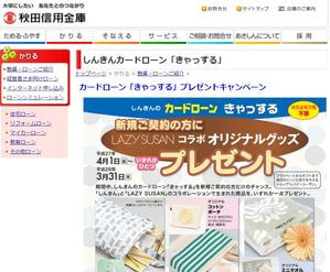秋田信用金庫カードローン