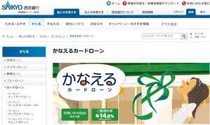 西京銀行カードローン